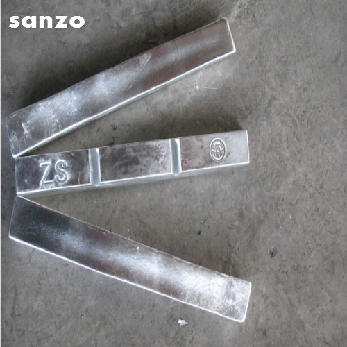 Zinc Anodes 99.99 % For Electroplating Certifications: Iso9001