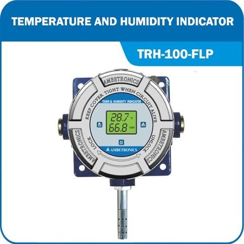Battery Operated Temperature Humidity Indicator Trh-100
