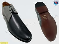 Mens Black And Grey Formal Shoes