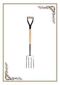 Stainless Steel Fork with Ashwood Handle and MYD Grip