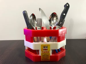 Plastic Twins Cutlery Stand