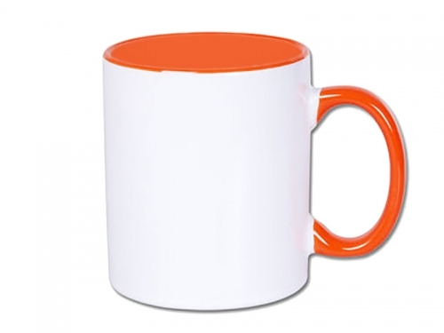Sublimation Inner Handle Orange Mug
