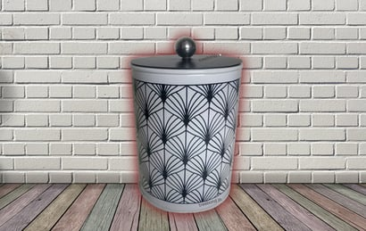 Galvanized Sheet Abstract Design Canister Set