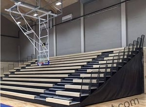 Customized Retractable Stadium Seating Timber Bench
