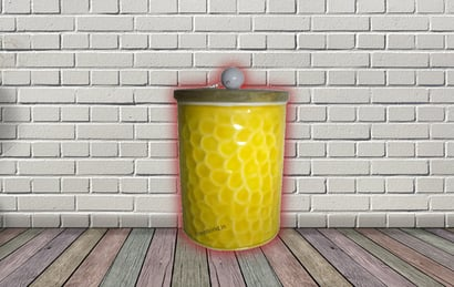 Yellow Honeycomb Canister Set