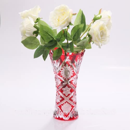 Red Colored Glass Vases
