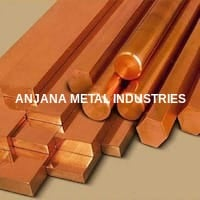 Copper Hexagon Rod With Square, Round, Rectangular