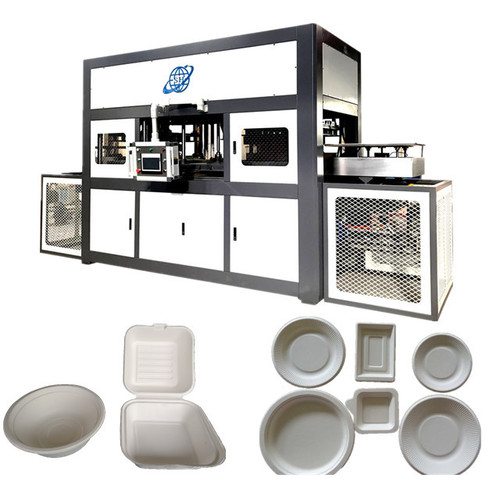 Disposable Bagasse Paper Pulp Plate Food Box Making Machine