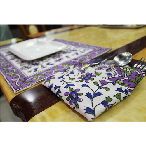 Colourful Design Block Print Indian Cotton Fabric Home Decorations Accessories Custom Decorative Cotton Dinner Cloth Table Mat