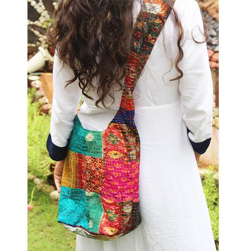 Indian Cotton Banjara Jhola Patchwork Bags