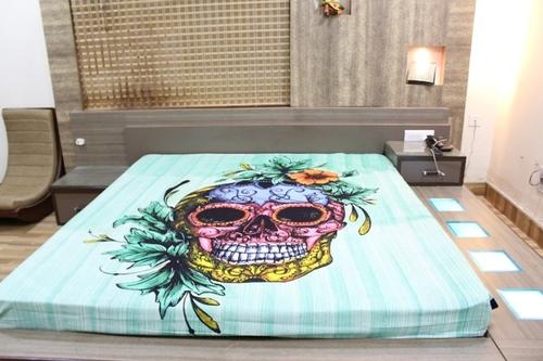 Skull & Rose Skeletons Halloween Indian Cotton Wall Hangings Printed Tapestry