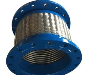 Stainless Steel Multiply Bellows High Temperature Hose Connector With Braids