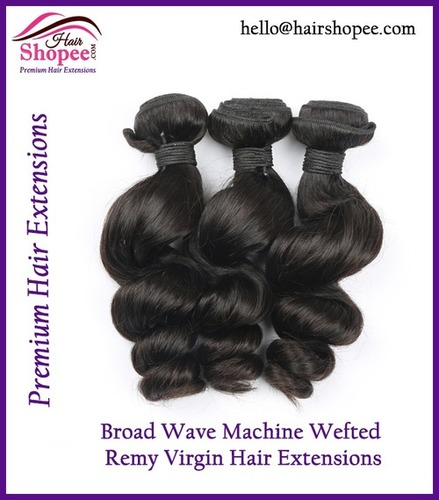 Machine Wefted Broad Wave - Hair Extension
