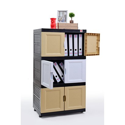 Brown Office And Home Use Diy Two Door Storage Wardrobe Cabinet