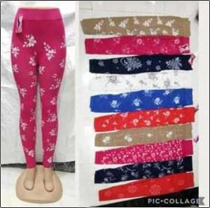 Fully Stretchable Flower Jeggings
