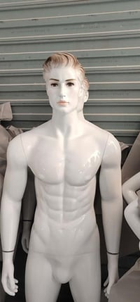 Male Mannequin With White Glossy Finish