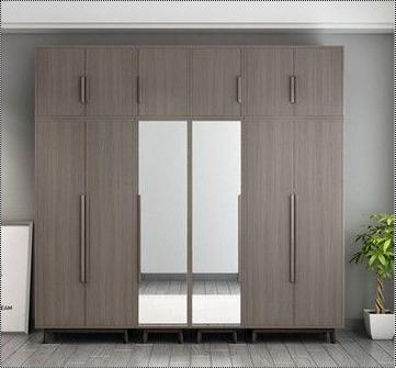 Wooden Glass Closet Cabinet Bedroom Wardrobe