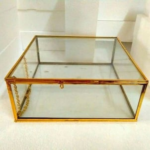 Gold Plating Glass Jewelery Boxes