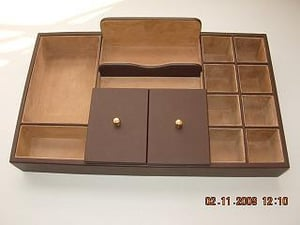 Leatherette  Dressing Tray for Men