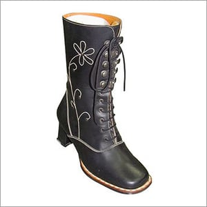 Girls Fancy Leather Boots