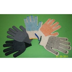 Polka Dotted Cotton Knitted Hand Gloves