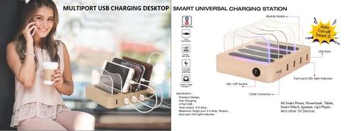 Multiport Usb Charging Station Docking Desktop Mobile Stand