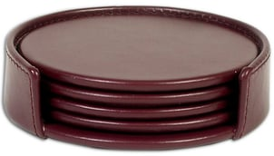 Leatherette 4 pieces Coasters set With Holder