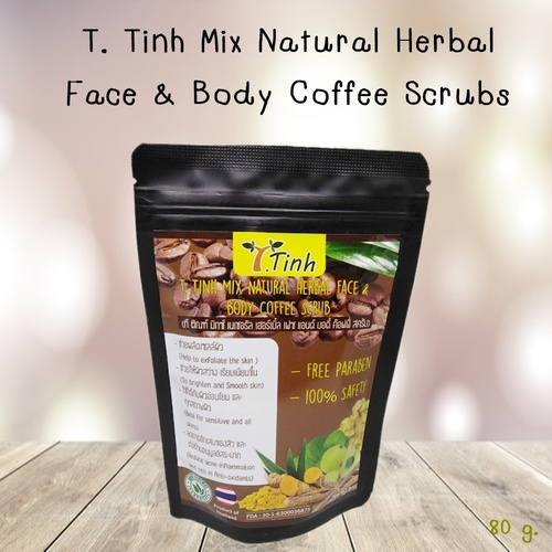 Mix Herbal Face And Body Coffee Scrub