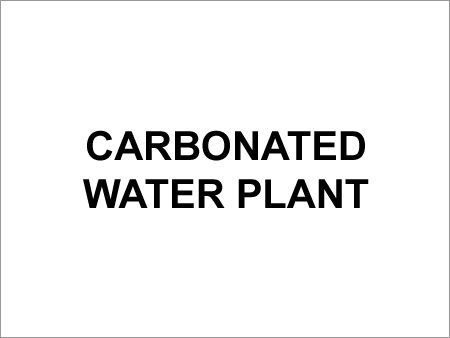Carbonated Water Plant