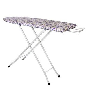 Ironing Board Table with Iron Holder