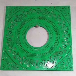 Butterfly Etching Iron Mirror Frame