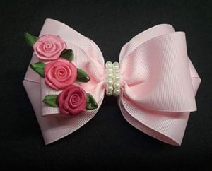 Pink Color Bow Hair Clip