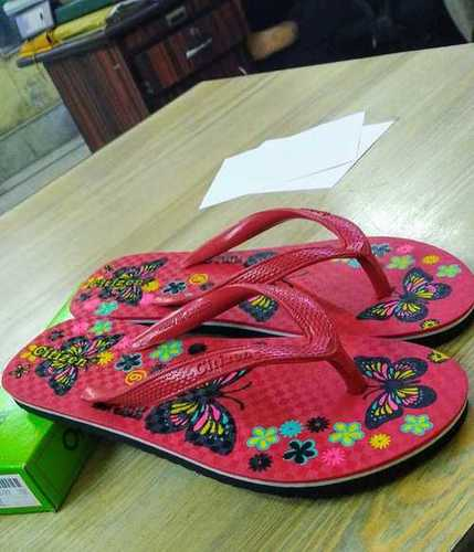 Red Titli Hawai Ladies Slipper