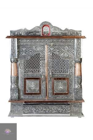 Copper Oxidized Coated Wooden Temple