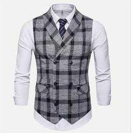 Mens Check Waist Coat