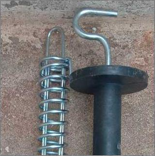 Solar Fencing Gate Handle With Spring