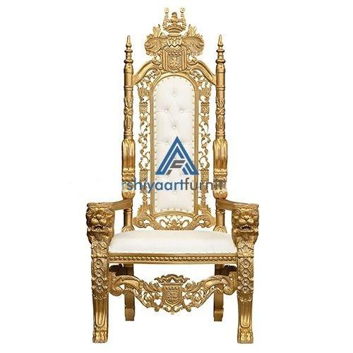 Gold Leaf Finish King Throne Chair