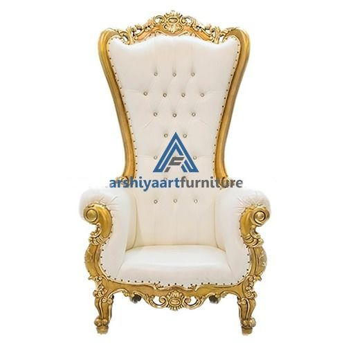 Gold Leaf Finish Queen Throne Chair