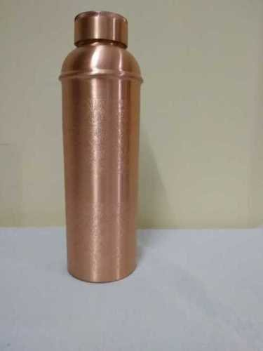 Red Embossed Copper Water Bottle
