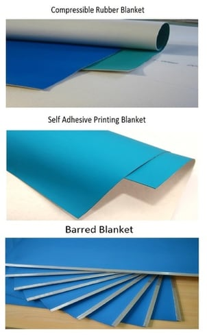 Barred, Compressible, Self Adhesive Blankets
