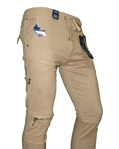 Light Brown Mens Joggers With Stretchable Fabrics
