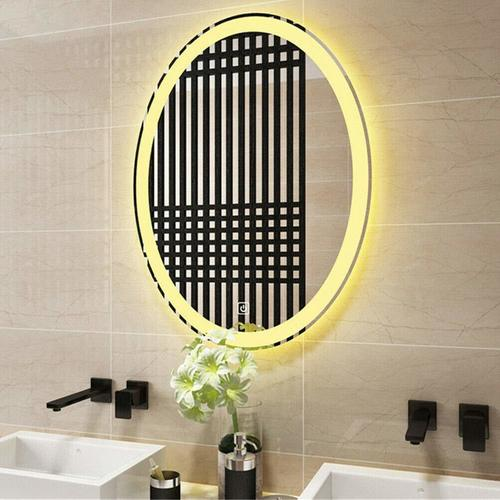 Side Glow Oval Frosting Led Mirror With Sensor