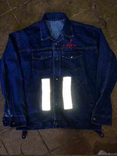 Reflective Tape Jeans Jacket