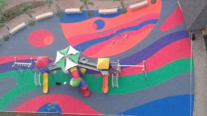 Customized Rubber Flooring For Playground
