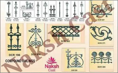 Cast Iron Compound Railing Height: Various Heights Are Available Inch (In)