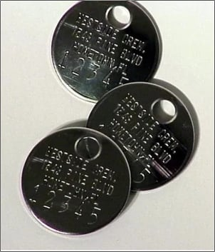 Cremation ID Discs 316 Stainless Steel Identity