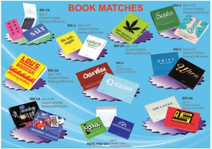 Book Matches With Customized Logo