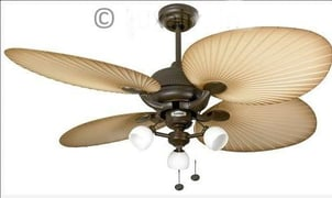 Luxaire Lux 1097 Palm Style Outdoor Ceiling Fan