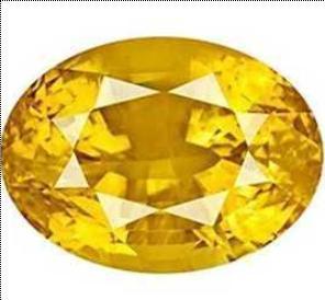Yellow Color Pukhraj Stone