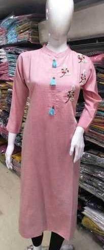 Single Ladies Cotton Straight Kurti